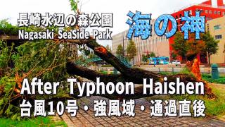 台風10号・海の神 Haishen